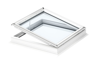 VELUX - CVP 150150 0673QV - Elec. flat roof window, laminated inner pane, PVC construction,150x150